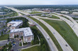 Highway, Overpass, Ramps and Buildings Aerial