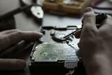 Hands repair hard drive - 183493898