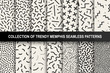 Collection of memphis seamless patterns. Fashion 80-90s. You can find seamless backgrounds in swatches panel