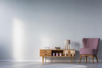 Kid's room with purple armchair