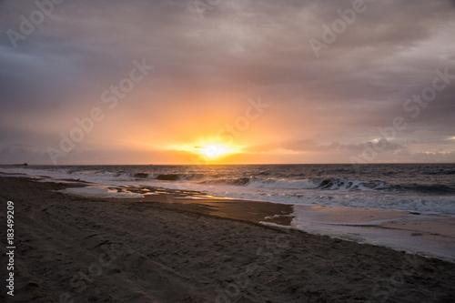 Plexiglas Strand Sunrise on the Crystal Coast of North Carolina