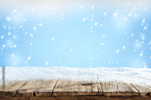 Leinwanddruck Bild snow background