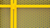 yellow cage metal wire - background - 183505279