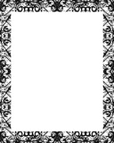 White Frame with Decorated Borders - 183508416