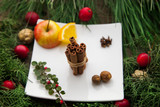 Cinnamon as main ingredient to make mulled wine. - 183508490