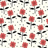 Seamless Floral pattern. Floral pattern for textiles, packaging, Wallpaper. Vintage background with flowers. - 183509881