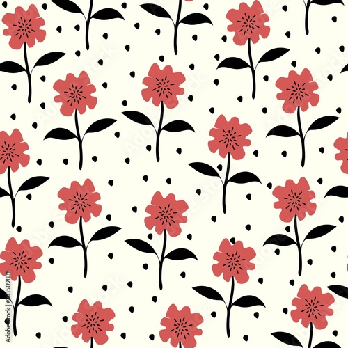 Seamless Floral pattern. Floral pattern for textiles, packaging, Wallpaper. Vintage background with flowers.