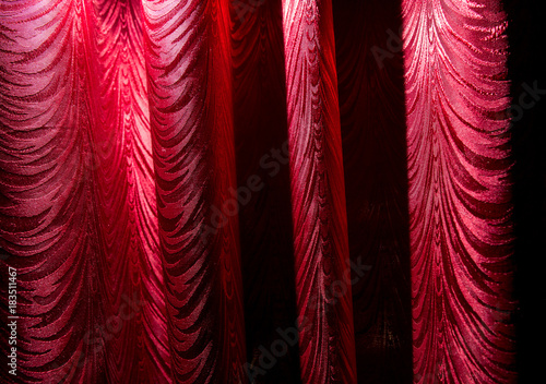Red curtain as an abstract background