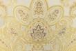 Beige botanical carpet pattern texture background