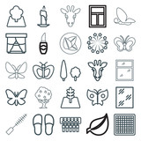 Set of 25 decorative outline icons - 183515061