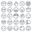 Set of 25 expression outline icons