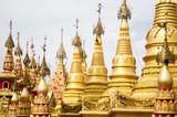 Simulate of Shwedagon Pagoda at Suwankiri Temple, Ranong, Thailand
