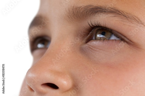Boy with hazel eyes