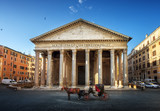Pantheon, horse in the foreground, Rome, Italy - 183518889