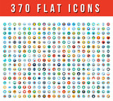 370  Flat Vector Icons - 183522434
