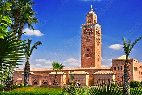 Fotobehang Marokko Koutoubia Mosque in the southwest medina quarter of Marrakesh