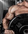 training man in gym