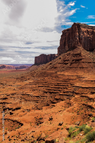 Deurstickers Bleke violet Monument Valley view. Arizona/Utah border, USA