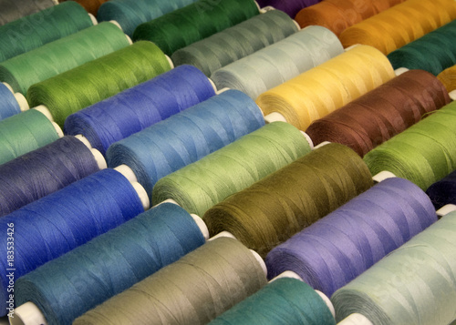 colored sewing threads in spools,different colors