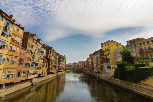 Keuken foto achterwand Antwerpen Girona cityscape, northern Spain - looking out over the Onyar river