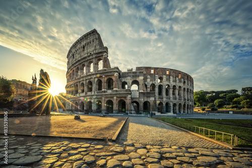 Tuinposter Rome View of Colloseum at sunrise