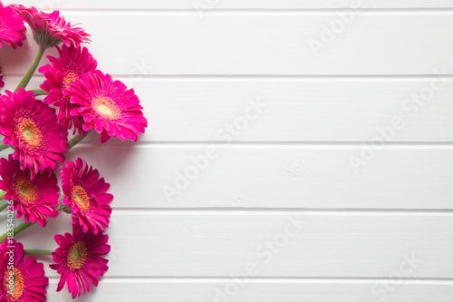 Fotobehang Gerbera Pink gerbera flowers.