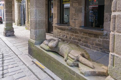 Fototapeta estatua tumbada en dinan