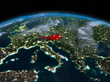 Austria from space at night - 183547811
