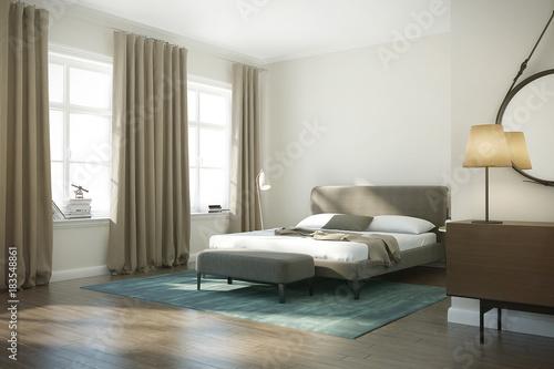 Modern white luxury bedroom