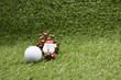 Golf ball with Christmas ornament for golfer Christmas holiday