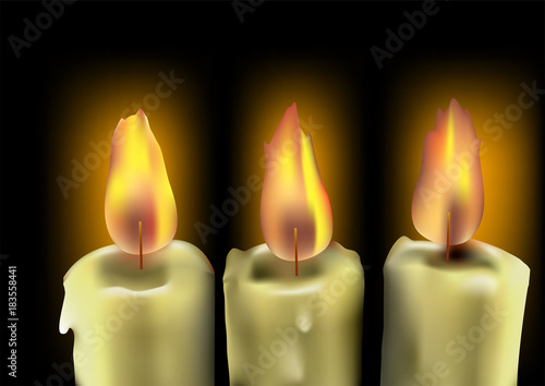 tree burning candles