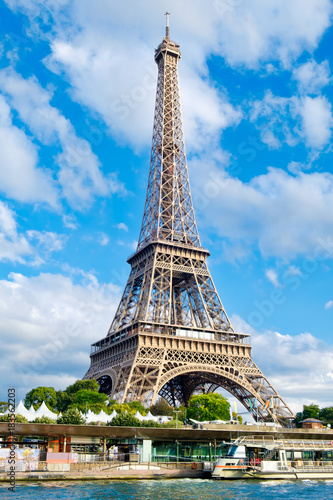 The Eiffel Tower in Paris on a sunny summer day Poster