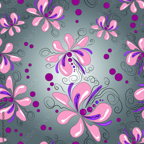 Vector floral seamless pattern - 183562404