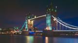 Tower bridge and the sky London skyline at night