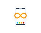 Smartphone Infinity Icon Logo Design Element - 183567050