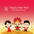 New year celebration of 2018 with good fortune