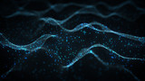 Futuristic blue neural network rendered with DOF - 183568443