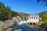 Old hydroelectric power station. Chemal, Altai Republic, Russia - 183570688