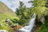 Waterfalls Ary-tour, Yelanda. Altai Republic, Russia
