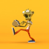 Fun zombie - 3D Illustration - 183574476
