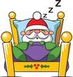 Santa Claus sleeping snoring dreaming in bed - 183578035