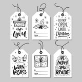 Fototapety Christmas gift tags