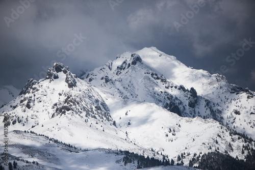 Papiers peints Gris Winter landscape in Romania