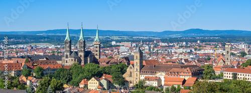Foto op Canvas Panoramafoto s Panorama von Bamberg in Franken