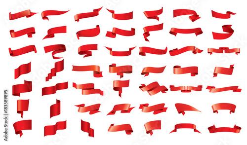 vector red ribbon