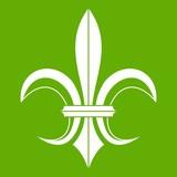 Lily heraldic emblem icon green
