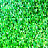 Geometric triangular polygon pattern background - modern gradient vector graphic design with green triangles - 183593896