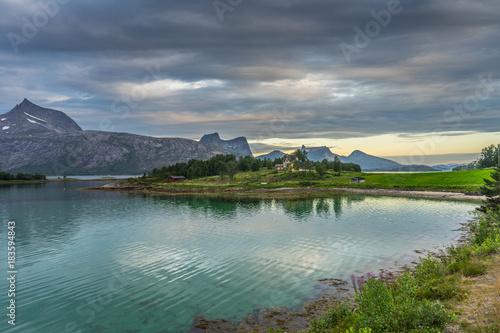 Foto op Canvas Grijs Norway mountains