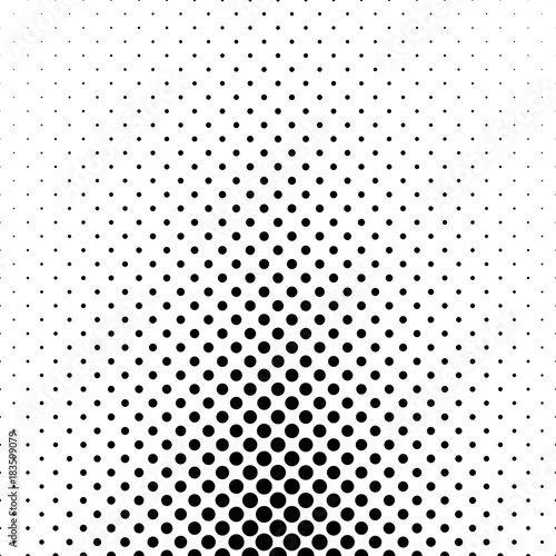 Abstract monochrome polka dot pattern - geometric halftone vector background design