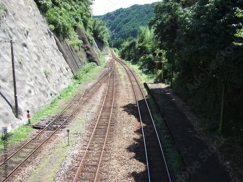 Tuinposter Spoorlijn Railway 2